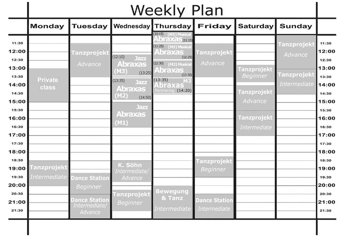 Weekly Menu Plan The Idea Room